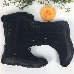 North Face Primaloft Black Suede Boots Sz 6